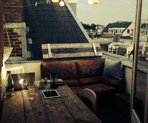 beautiful, rooftop, and evening image