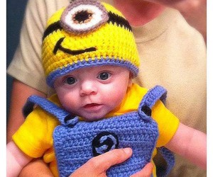 baby, cute, and minions image