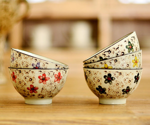 cup, bowl, and vintage image