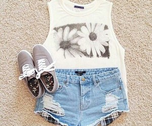 clothes, denim, and shoes image