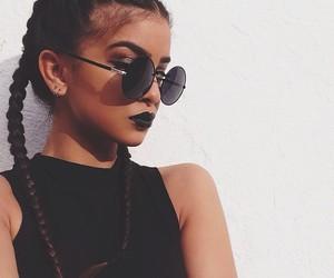 girl, black, and hair image