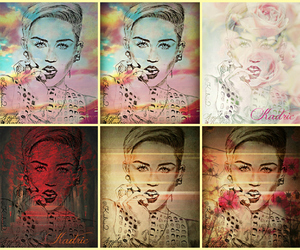 art, drawing, and miley image