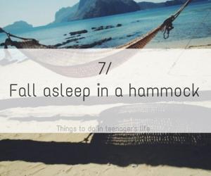 beach, hammock, and life image
