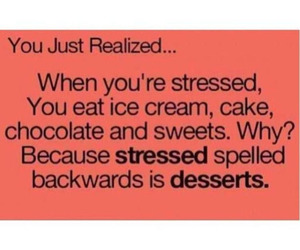 dessert and stressed image