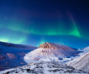 aurora, photography, and mountains image