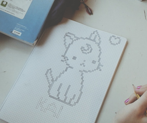 adorable, cats, and drawing image