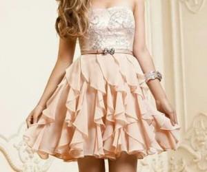 dress, pink, and silk image