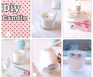 candle, diy, and room decor image