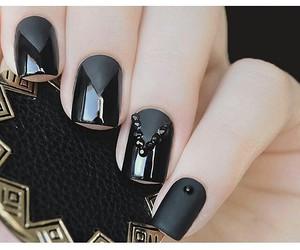 black and nail art image