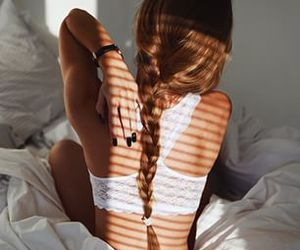 back, bra, and lace image