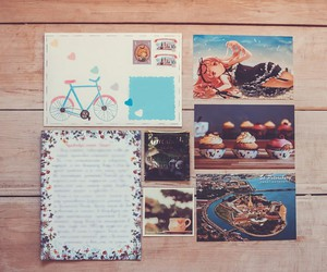 art, mail, and vintage image