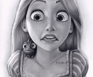 drawing, rapunzel, and art image