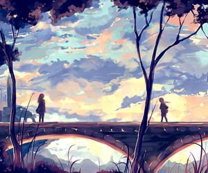 bridge, art, and sky image
