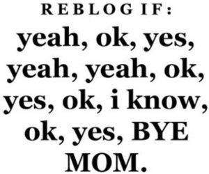 mom, ok, and text image