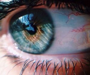 eye, blue, and grunge image