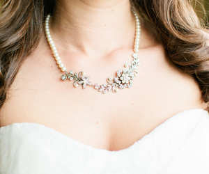fashion, necklace, and wedding image