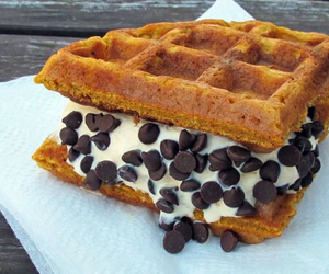 food, waffles, and chocolate image