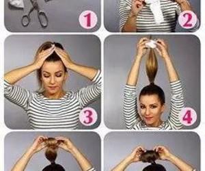 hair, diy, and bun image