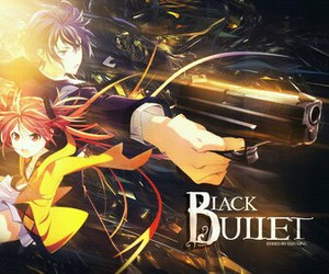 anime, black bullet, and enju image