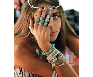 girl, summer, and bracelets image