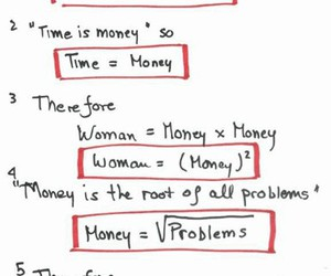 woman, money, and problem image