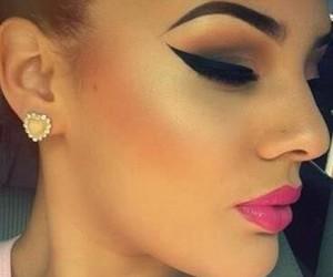 make up, makeup, and lips image