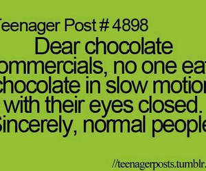 funny, chocolate, and quote image