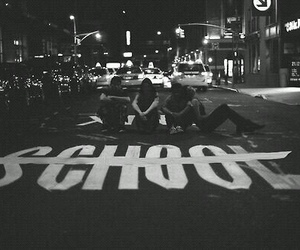 school, black and white, and grunge image