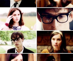 eddie redmayne, Felicity Jones, and movie image