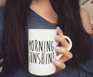 morning, girl, and sunshine image