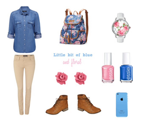 blue, combat boots, and fashion image