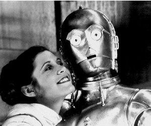 behind the scenes, carrie fisher, and starwars image
