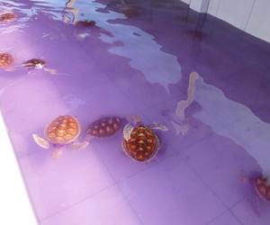 turtle, purple, and grunge image