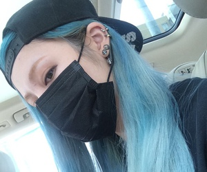 asian, blue, and hair image