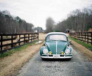 car, nature, and vintage image