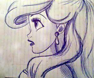 ariel, draw, and disney image