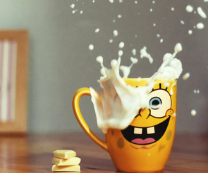 milk, spongebob, and chocolate image