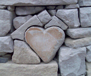 heart, stone, and rock image