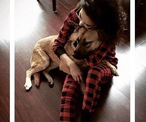 dog, shay mitchell, and pretty little liars image