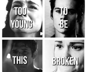 teen wolf, stiles, and broken image