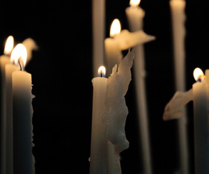 candle and black and white image