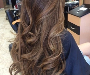 brown, hair, and highlights image