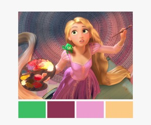 color palette, tangled, and disney image