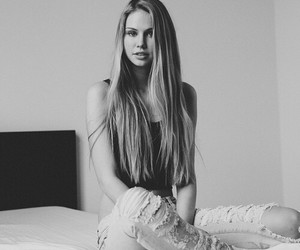 black & white, cool, and grunge image