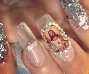 jesus, nails, and ghetto image