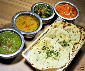 indian food, naan, and roti image