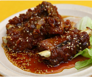 chinese food, honey, and pork image