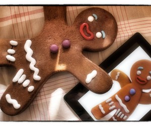gingerbread, cute, and Cookies image