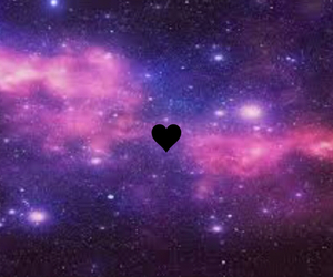 heart and galaxy image