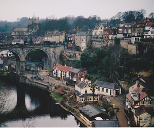 city, vintage, and town image